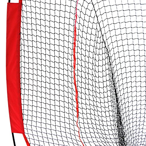 Super Deal 7'×7' Portable Baseball Softball Net w/Carrying Bag, Metal Bow Frame& Rubber Feet, for Training Hitting Batting Catching Practice by Super Dea (Image #6)