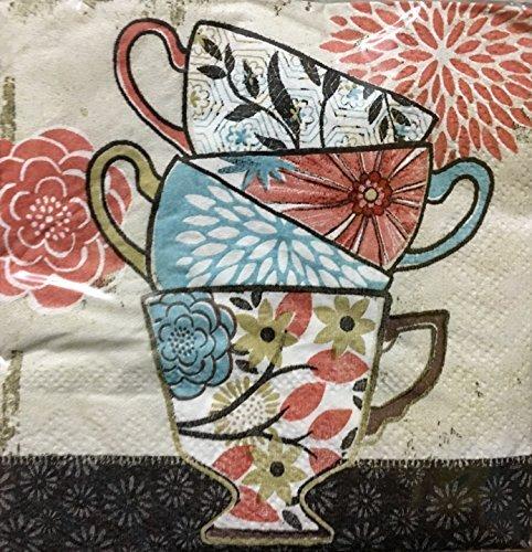 floral beverage napkins - 2
