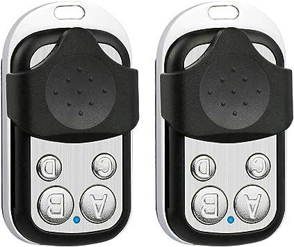 2 Pack 433 92mhz Copy Remote Controller Metal Clone Remotes Auto Copy Duplicator For Gadgets Cars Motorcycles Home Garage Door Amazon Com