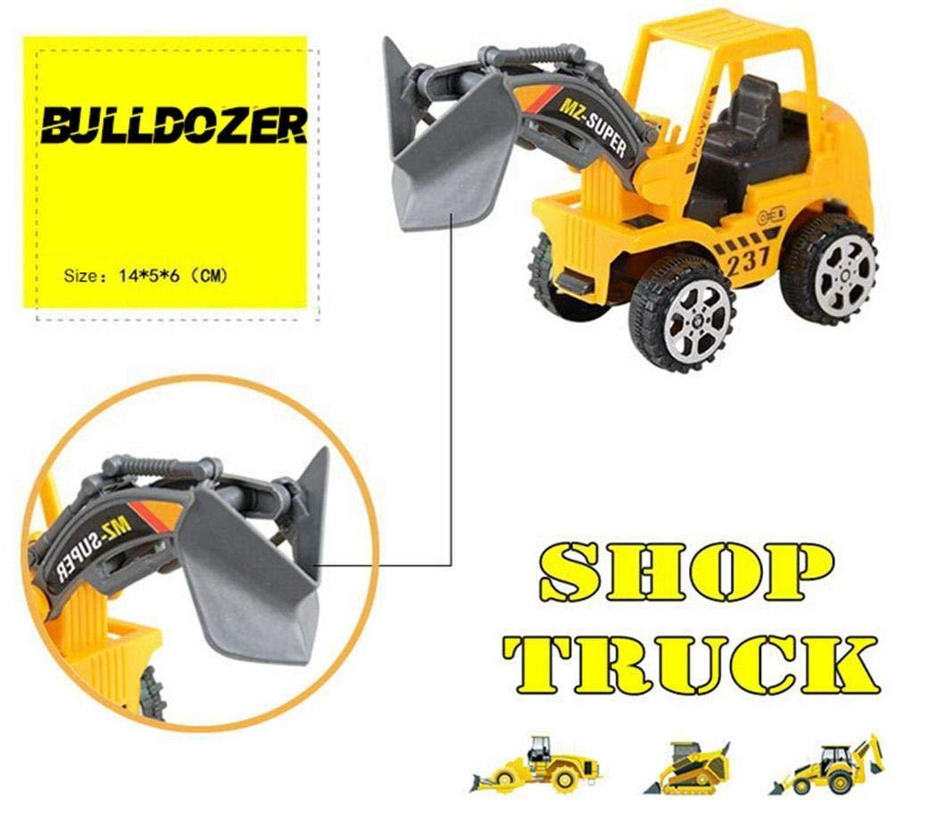Sisaki 6 Unids Construcción Vehículo Camión Push Ingeniería Toy Cars Niños Juguetes para Niños