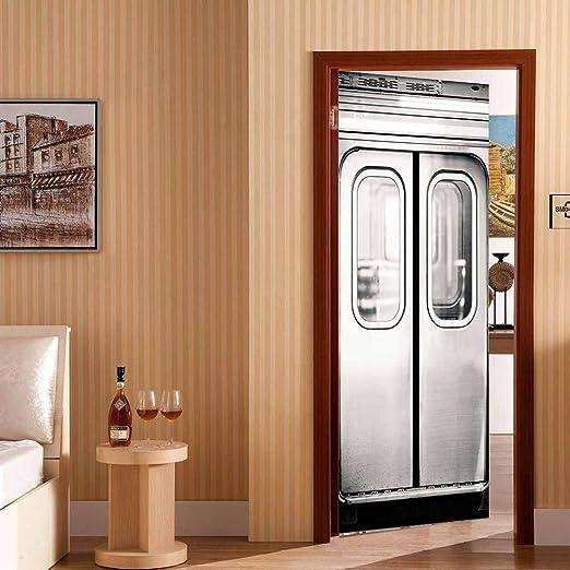 GXJAWYZ Puerta del Elevador 3D DIY por Papel Tapiz Decoración del Hogar Calcomanía Sala De Estar Decoración del Dormitorio: Amazon.es: Hogar