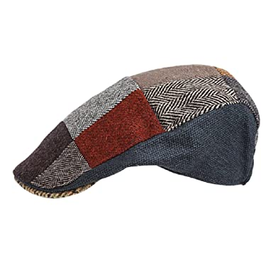 b6a308eea767 Image Unavailable. Image not available for. Color: Hanna Hats of Donegal.Irish  Flat Cap.Donegal Tweed.