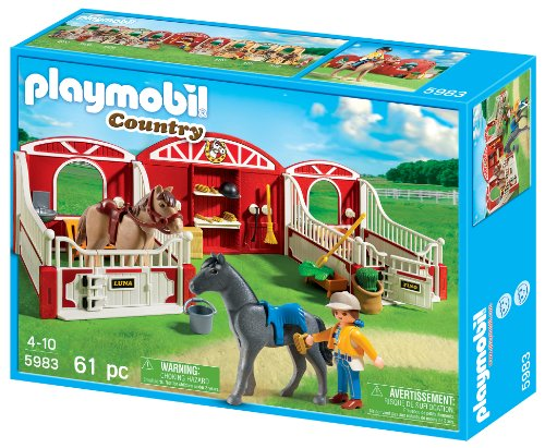 playmobil country pony stable import it all. Black Bedroom Furniture Sets. Home Design Ideas