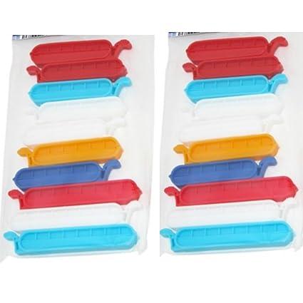 60 pcs pinzas cierre las bolsas de congelación pinzas de ...