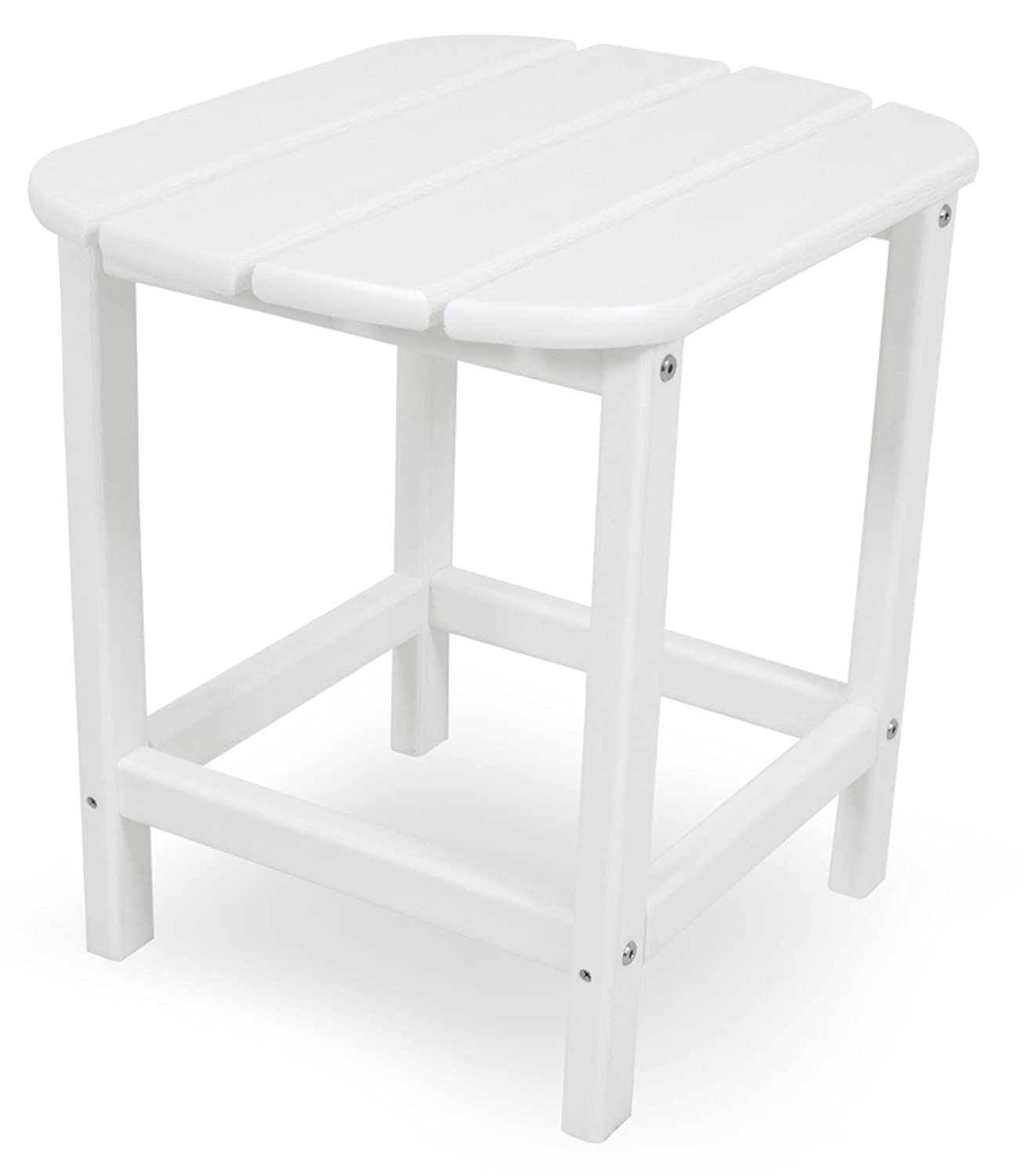"Amazon POLYWOOD SBT18WH South Beach 18"" Side Table White"