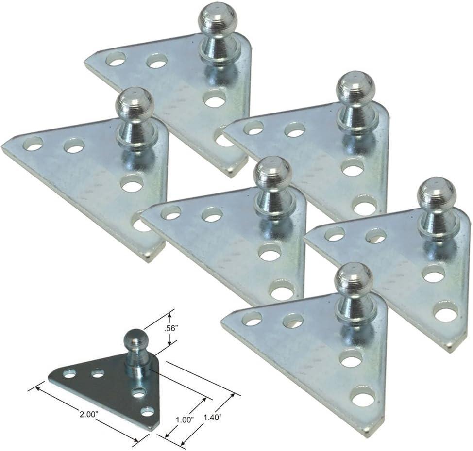 10MM Ball Stud Bracket for Gas Spring//Prop//Strut 4 Pack