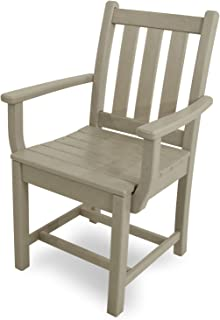 product image for POLYWOOD TGD200SA Traditional Garden Dining Arm Chair, Sand