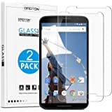OMOTON [2 Pack] Google Nexus 6 Screen Protector - Tempered Glass Screen Protector for Google / Motorola Nexus 6 with [9H Hardness] [Crystal Clear] [Scratch Resist] [No-Bubble], Lifetime Warranty