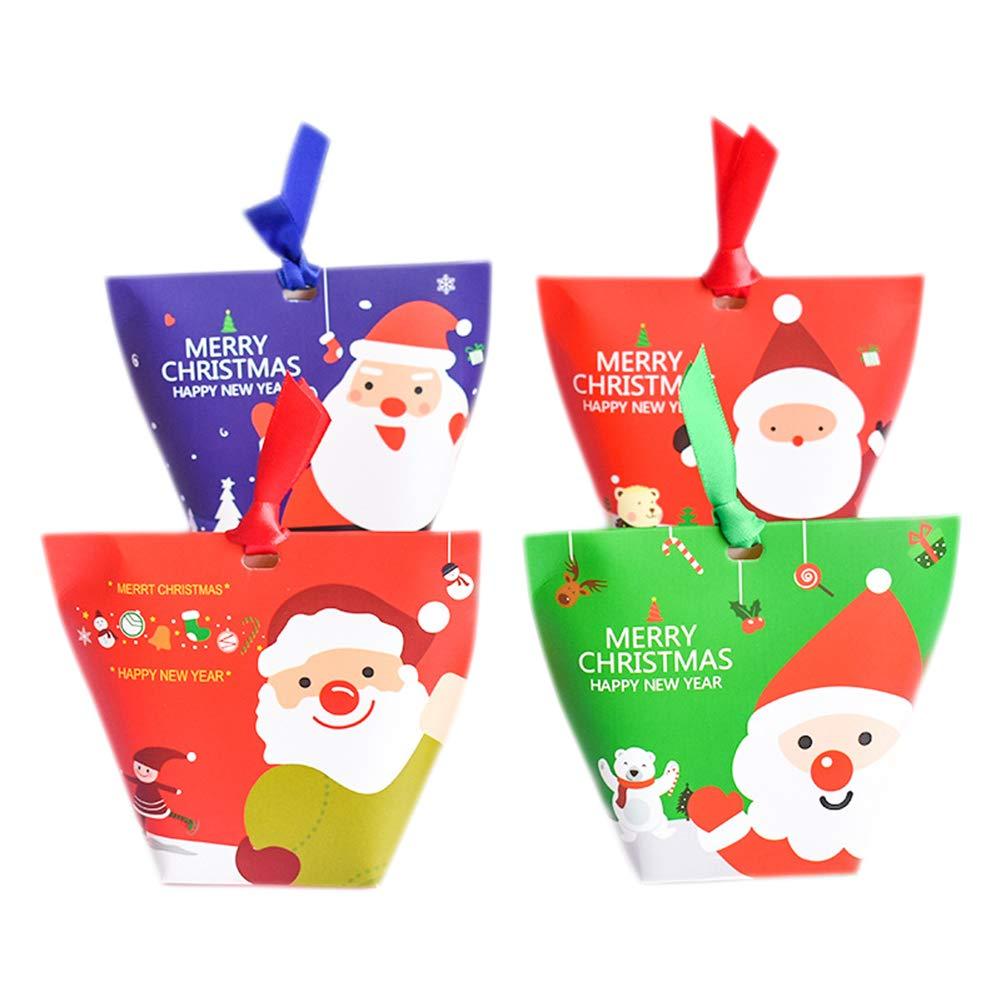 Biscotti Di Natale X Bambini.Chytaii 12 X Contenitore Per Caramelle Biscotti Dolci Natale