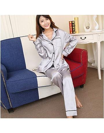 Frauen Robe Set Silk Pyjamas Damen Herbst Hause Service Frühling Sommer Sommer Silk Longs ärmel Bademäntel Nachthemd & Bademantel-sets Damen-nachtwäsche