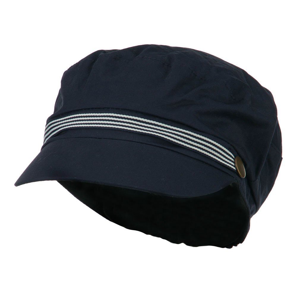 Women's Greek Sailor Shaped Cabbie Hat - Navy OSFM
