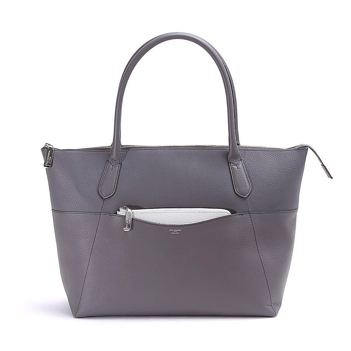 ペッレモルビダ トートバッグ Color Tote Bag Limited Model PMO-ST006 B078Y8XZGSチャコールグレー