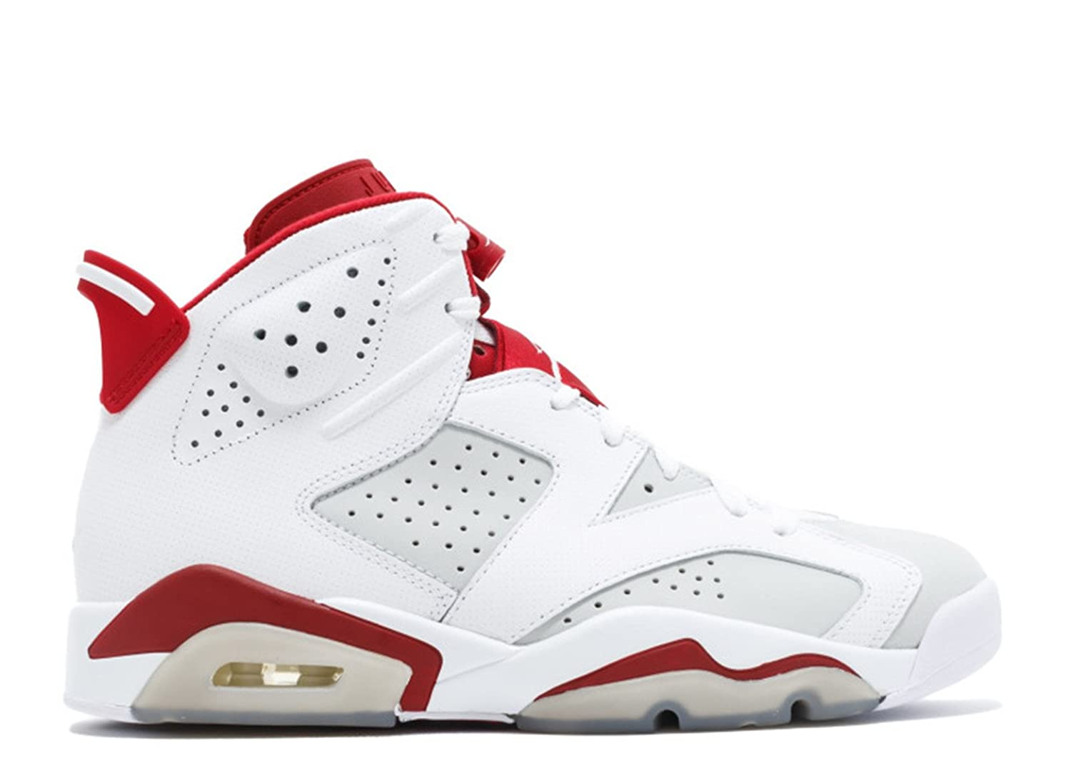 2017 Nike Air Jordan 6 Retro Alternate White Gym Red-Pure Platinum Mens Basketball Shoes