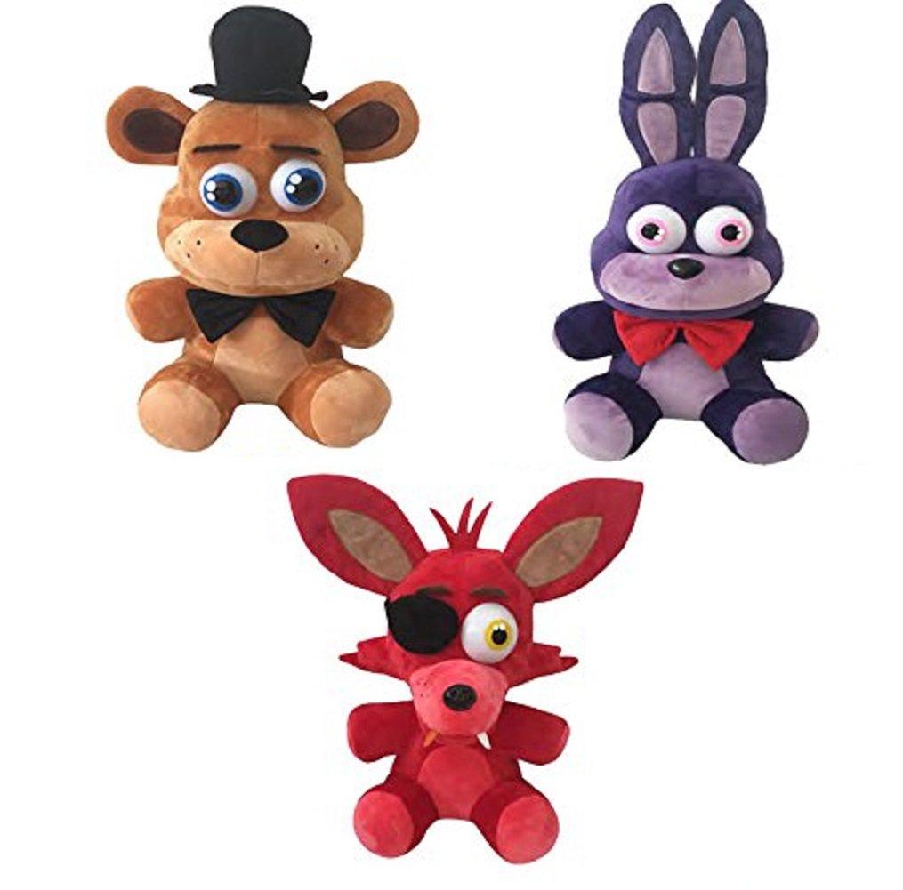 Original Five Nights at Freddys Plush Toy 3pc Set 10 Stuff Animal Plush Toy
