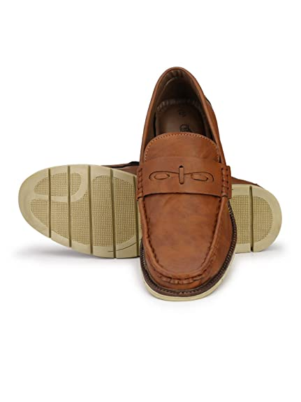 0a505690467e Guava Men Stylish Loafer Shoes - Brown  Buy Online at Low Prices in India -  Amazon.in