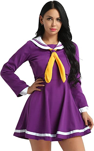 iixpin Disfraz Marinero Mujer Uniforme Escolar Japonesa 4Pcs ...