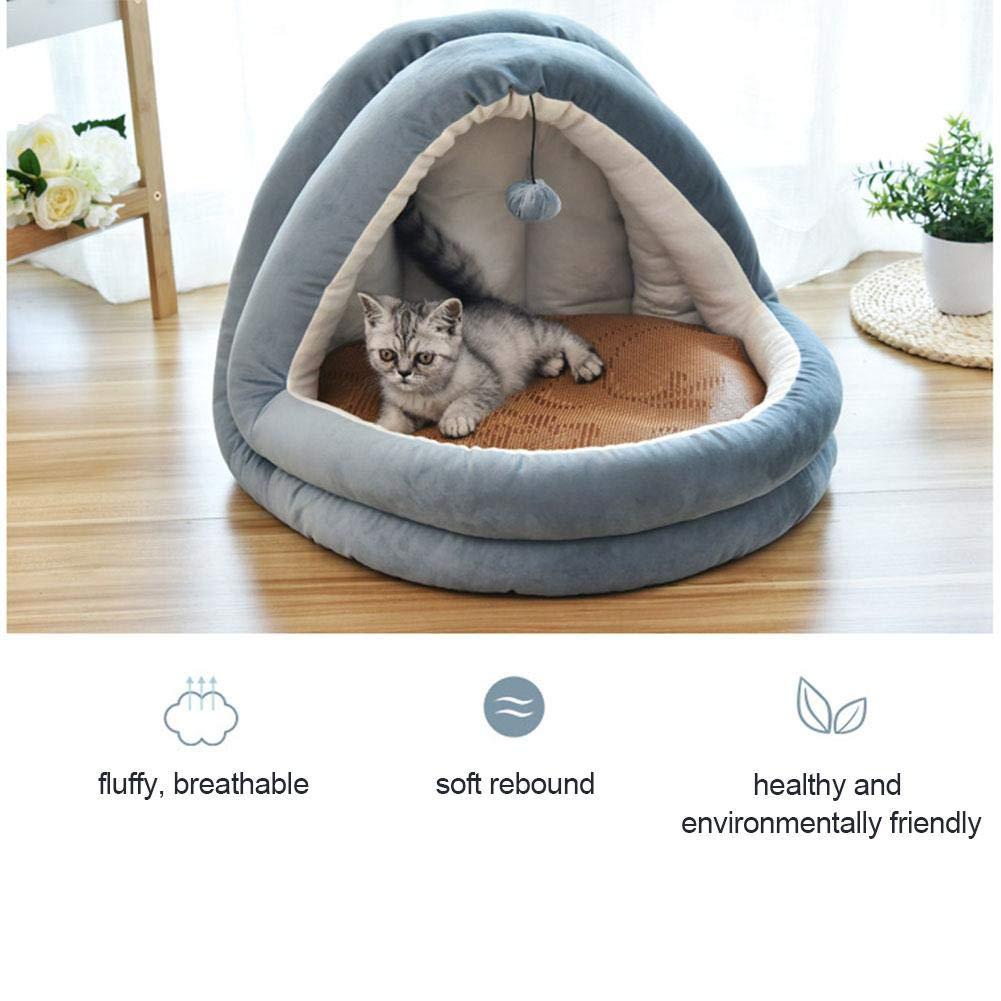 Saco De Dormir para Gatos con Protecci/ón T/érmica A Prueba De Viento Frugal Cueva para Gatos Suave Y Acogedora 2 En 1 MODGS Camas para Mascotas De Yurta Mongol