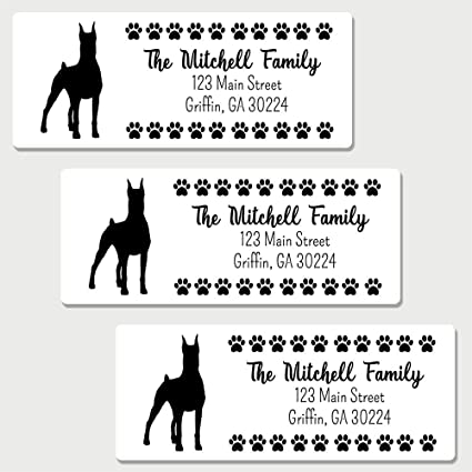 amazon com 60 personalized doberman pinscher themed return address