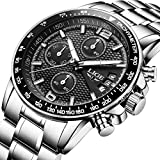 Watch,Watches for Men,Quartz Chronograph Fashion Business Date Wrist Watch with Sport Design Black