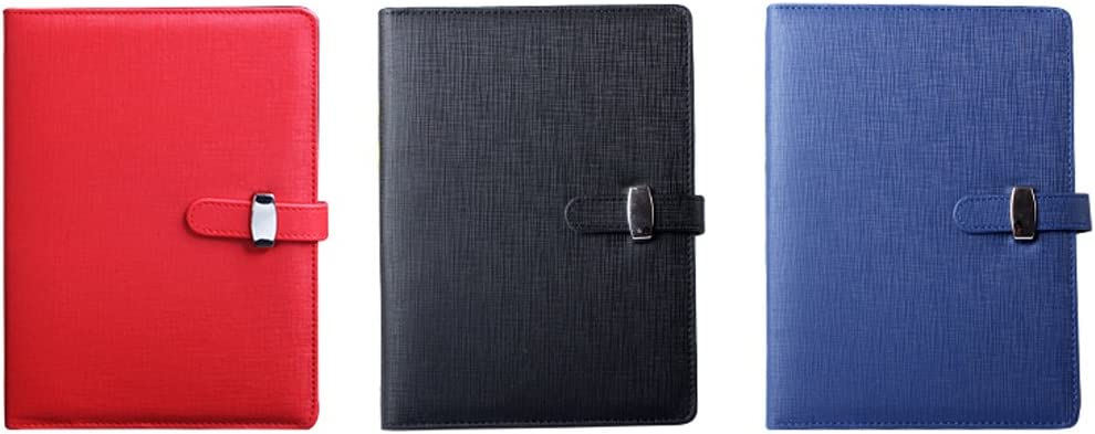 A5-6 Ring, Black Trycooling Creative Multifunctional Refillable Round Ring Binder Cover Notebooks for Business Meetings with Ruled Filler Paper