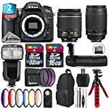 Holiday Saving Bundle for D7100 DSLR Camera + AF 70-300mm G Lens + AF-P 18-55mm + Flash with LCD Display + Battery Grip + 6PC Graduated Color Filter Set + 2yr Warranty - International Version