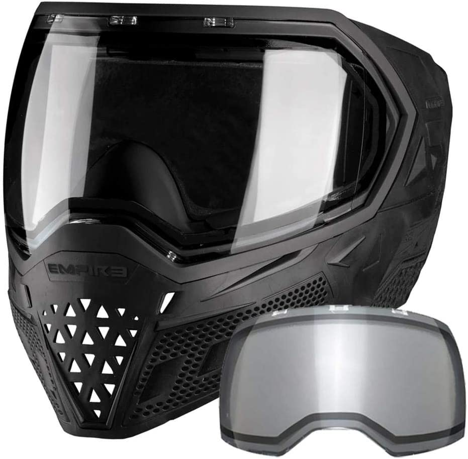 Empire EVS Paintball Mask/Goggle - 2 Thermal Lenses (Black/Black) : Sports & Outdoors