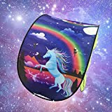 Kunmuzi Kids Play Tent Pop Up Bed Tent Childs Playhouse for Boys Girls Fun Plays Christmas & Birthday Gifts (Unicorn Fantasy)