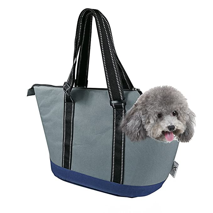 ba960b513c5 Amazon.com   Portable Small Pet Dog Puppy Cat Travel Outdoor Carrier Carry  Tote Bag (Dark Grey) - Go Shopping