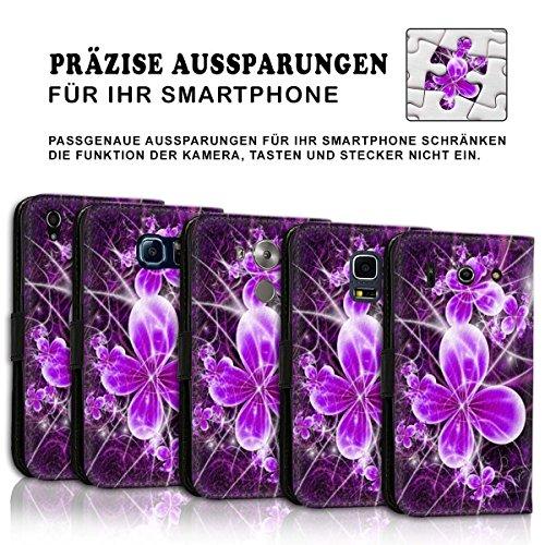 Wallet Book Style Flip Handy Tasche Case Schutz Hülle Schale Motiv Etui für Apple iPhone 4 / 4S - Design Flip MVD402