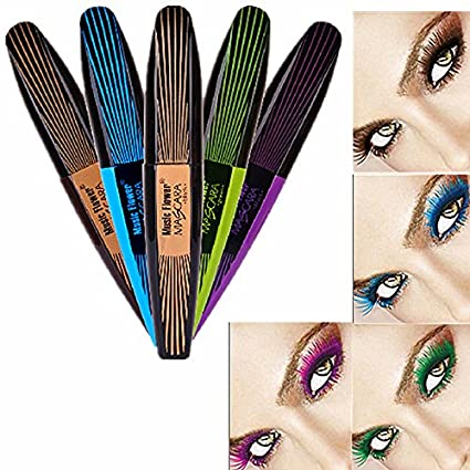 Amazon.com : UCLL Color Mascara Long Thick Curling Waterproof Mascara Lash Fattening Mascara Black Brown Green Blue Purple (5PC) : Beauty
