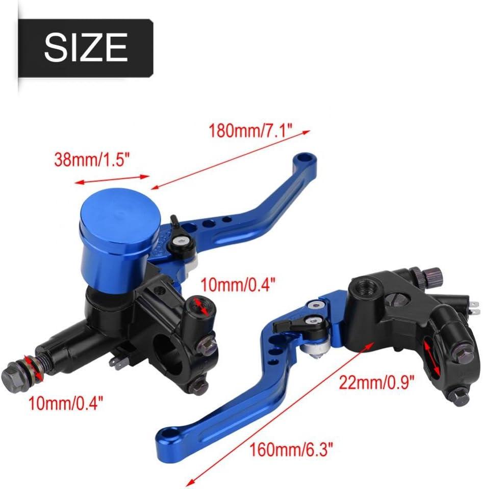 1 Paire Blue 22mm CNC Moto Frein Hydraulique Pompe Embrayage Ma/ître Cylindre Kit De Levier R/églable