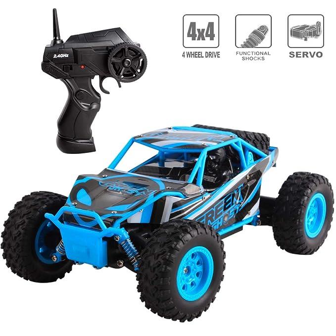 deAO RC Coche Jeep de Carreras Rally 4x4 Control Remoto 2.4GHz Vehiculo Todo Terreno de Alta Velocidad: Amazon.es: Juguetes y juegos