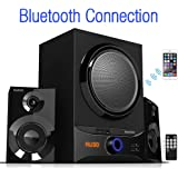 Boytone BT-209FB, Ultra Wireless Bluetooth Main unit, 30 watt, FM radio, remote control, Aux Port, USB/SD/ for Smartphone's, Tablets, Desktop Computers, Laptops, TV, Black finish
