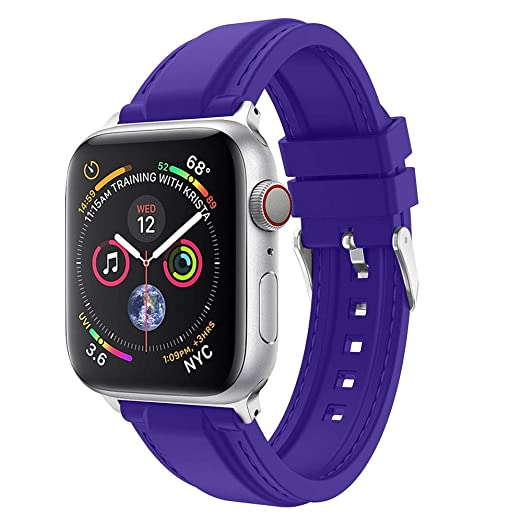Amazon.com : XBKPLO Sports Fashion Silicone Band Compatible for Apple Watch Band Series 4 38mm 40mm Series 3/2/1 Replacement Strap Cuff Jelly Bracelet : Pet ...