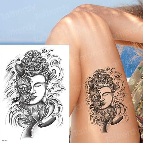 tzxdbh 2 Unids-león Tatuaje Temporal Hombre Brazo Tatuaje Manga ...