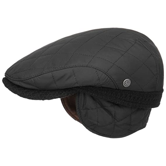 1409f2a478ccd bugatti Quilted Flat Cap with Ear Flaps Ivy hat  Amazon.co.uk  Clothing
