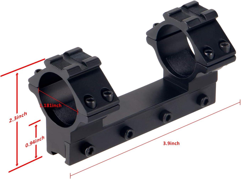 2 STÜCKE Zielfernrohr Montage 30mm Ring Weaver Picatinny 11mm Schiene Jagd R