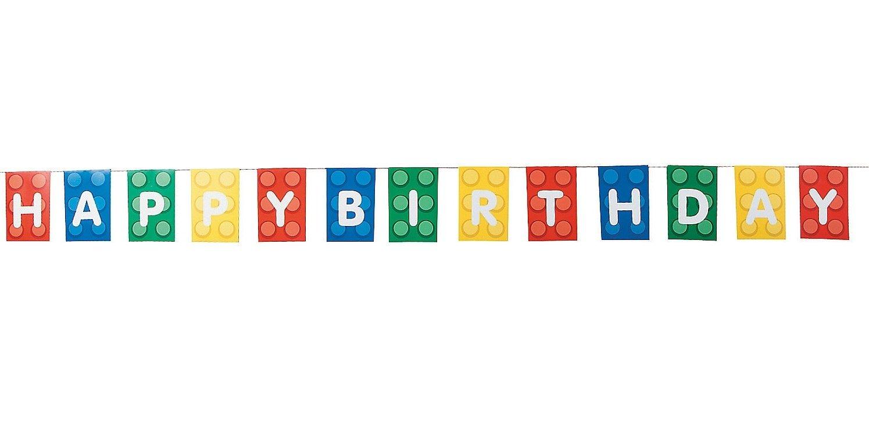 Blocks Brick Party Birthday Banner Image 2