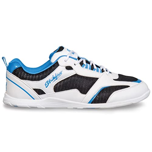Strikeforce Ladies Spirit Light Bowling Shoes 9 1/2 M US White/Black/Blue