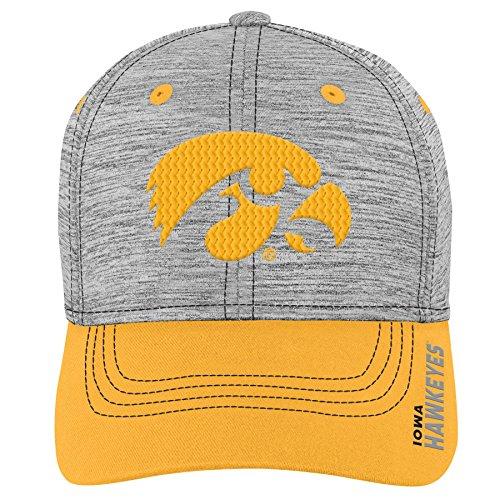 - Gen 2 NCAA Iowa Hawkeyes Youth Boys Velocity Structured Flex Hat, Youth Boys One Size, Black