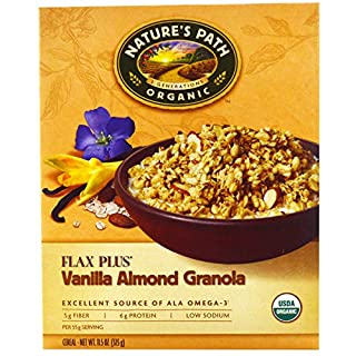Nature's Path, Organic, Flax Plus, Vanilla Almond Granola Cereal, 11.5 oz(Pack of 2)