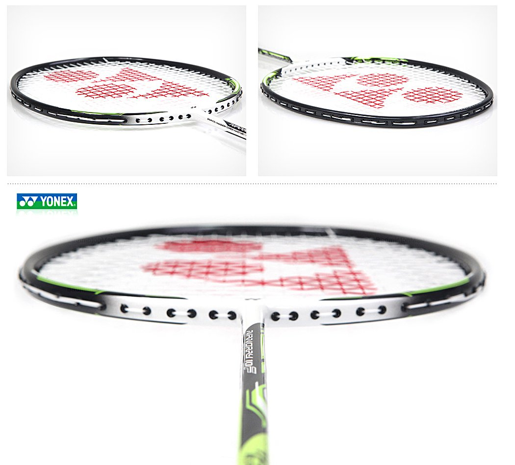 Yonex NANORAY 10F NEW Badminton Racket 2017 Racquet Lime 4U/G5 Pre-strung with a Half-length Cover (NR10F-LIME) by Yonex (Image #3)