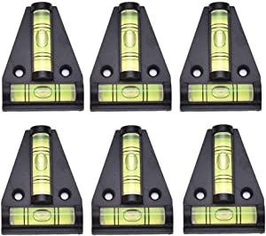 6PCS Magnetic RV T Level Bubble Levels Cross Check Bubble Spirit T-type Level for RVs Tripods Machines Furniture Trailers Adjusting Angle Level Horizontal Measuring Layout Tool
