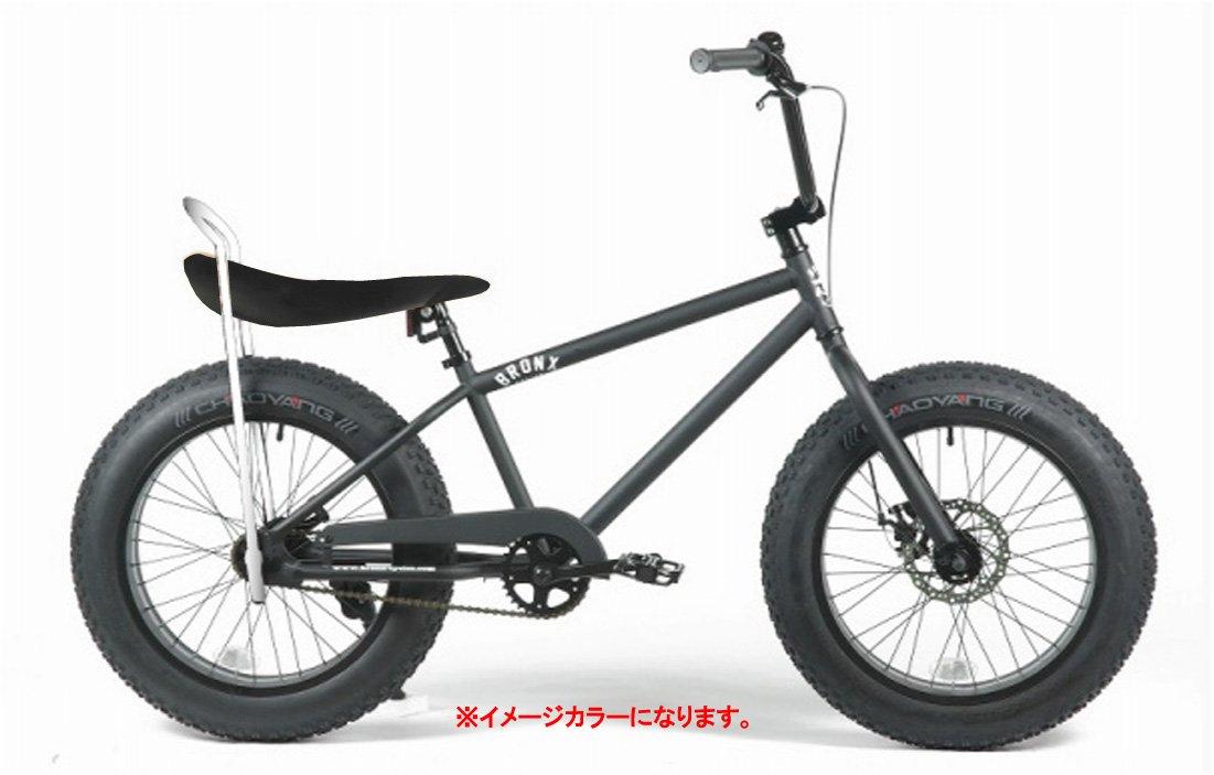 BRONX 20nch FAT-BIKES 【ブロンクス 20inchファットバイク】 COLOR:マットブラック×ブラックレザーサドル ※フェイクレザー仕様 B00VCNMLE2