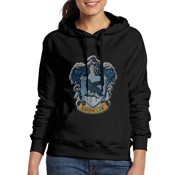 Lennakay Harry Potter Ravenclaw de la Mujer Casual Sudadera con Capucha Negro - Negro -: Amazon.es: Ropa y accesorios