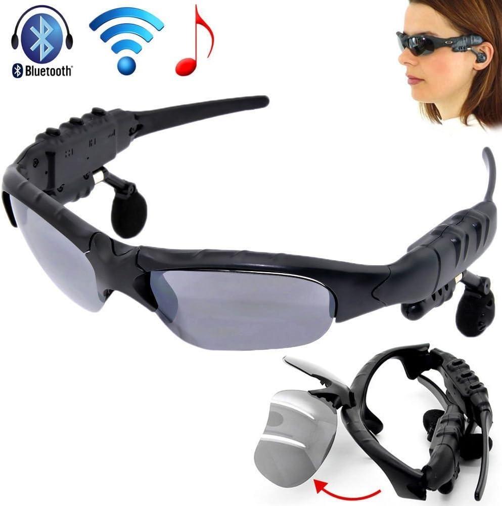 Lunettes de Soleil Bluetooth, Built in v 4.1 Bluetooth Headphones Sports Stéréo Sunglass with Mains Libres Téléphone Lecteur MP3 pour Android