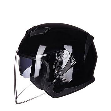 GUOHONG-CX Cascos Modulares Casco Integrales Al Aire Libre De La ABS Ligero Motocicleta Sombrilla