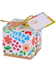 Gudotra Scatoline Portaconfetti Carta Scatole Confettata Scatoline per Bomboniere per Matrimoni Comunioni Battesimi Natale Compleanno