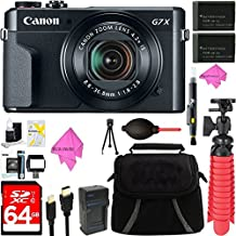 [Patrocinado] Canon PowerShot G7 X Mark II 20.1 MP 4.2 x zoom óptico cámara digital + Two-Pack NB-13L Baterías de repuesto + accesorio Bundle
