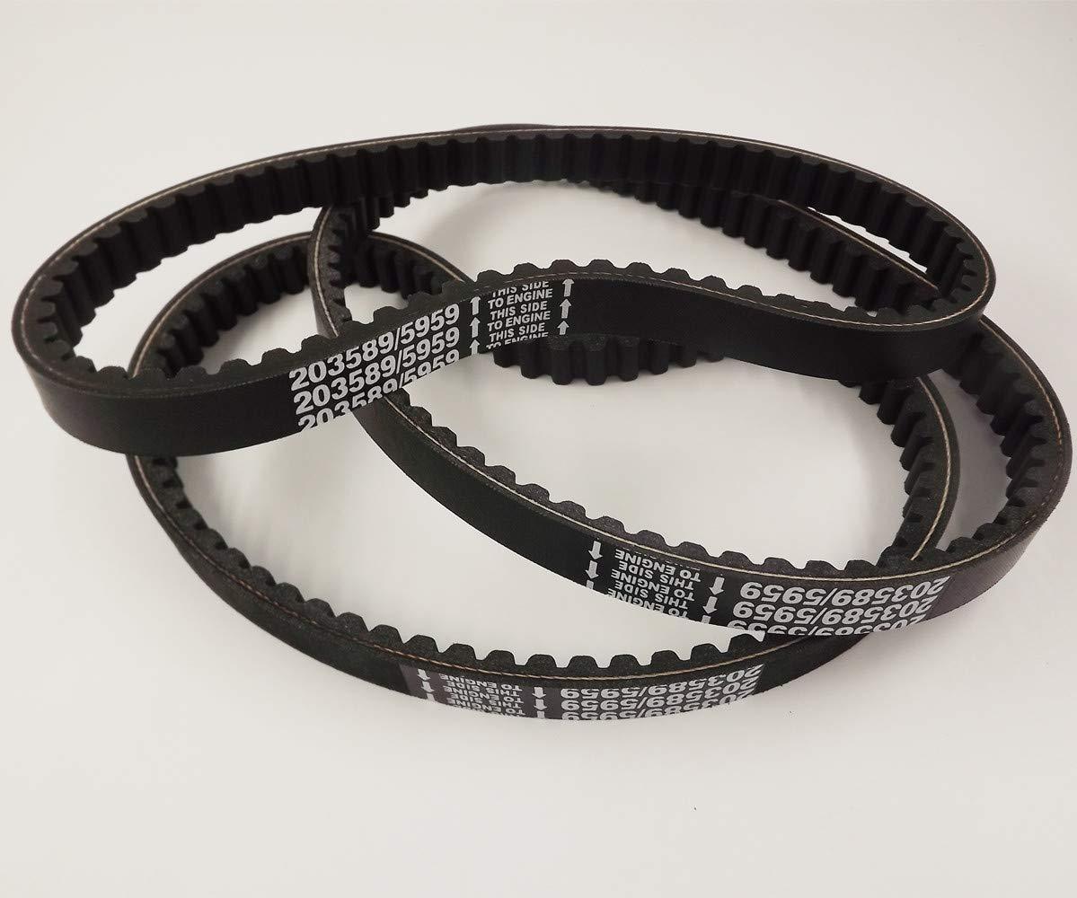 labwork-parts 3 Pack 203589//5959 Go Kart Drive Belt 30 Series Fit for Manco 5959 Comet 203589